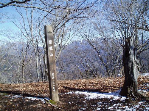 1月の権現山